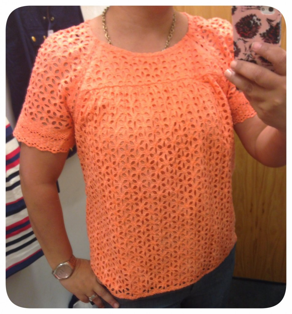3c0b78539c2d3a J Crew Factory March 2014 – Tops   a Dress – Embroidered Eyelet Tank ...