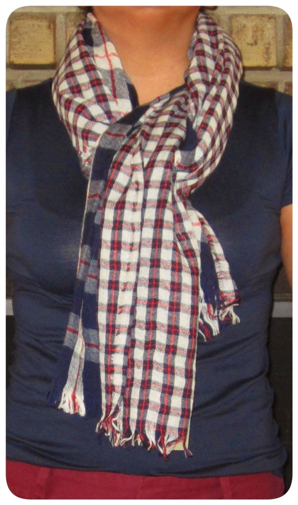plaid mix scarf is buy the shoes