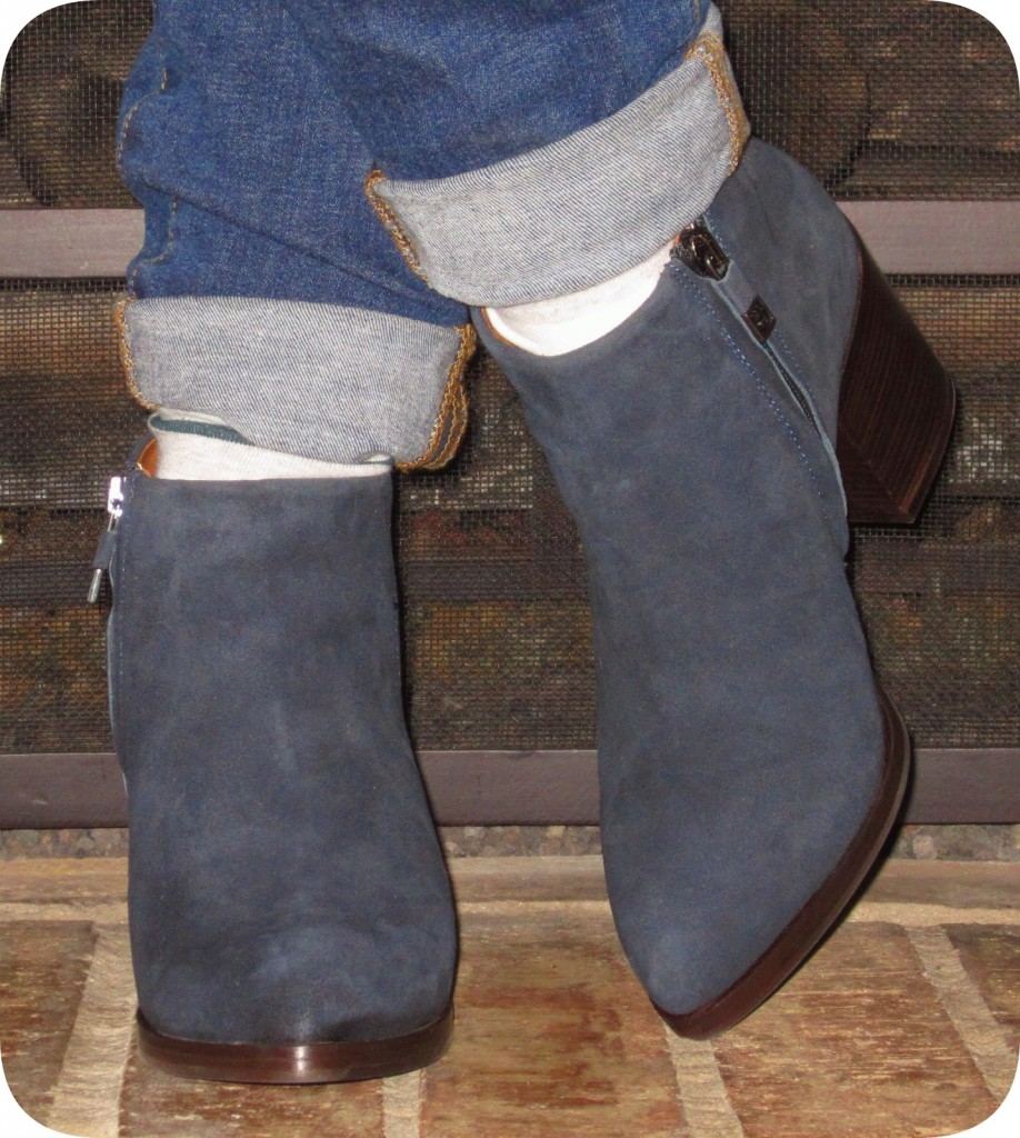 87de8d1116607 The heel is not too high and the booties are very comfortable to walk in  and wear all day.