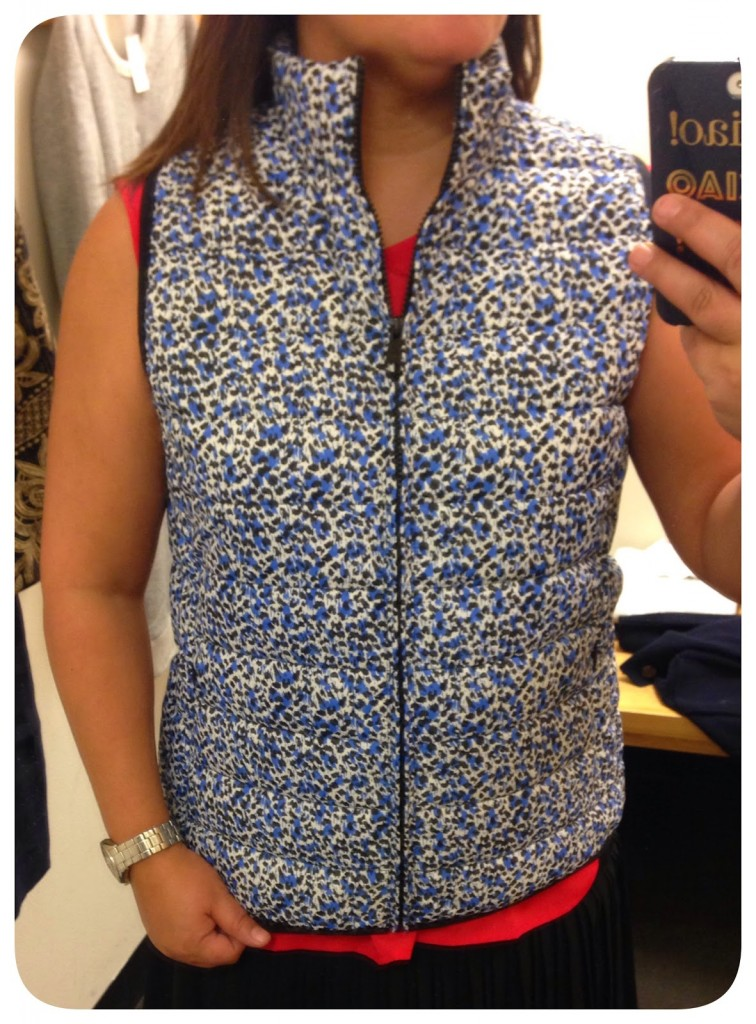 J Crew Factory Printed Puffer Vest Puffer Vest Life Is