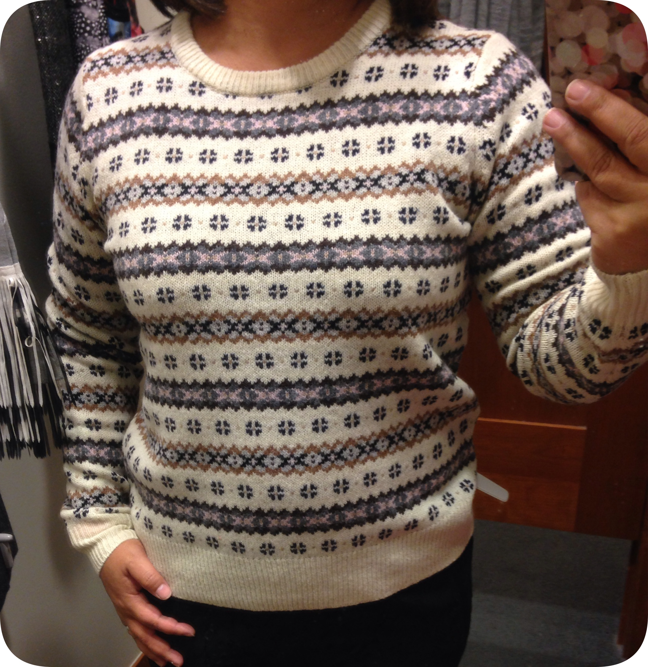 J Crew: Fair Isle Crewneck Sweater, Pull-on Pant in Lace Floral ...
