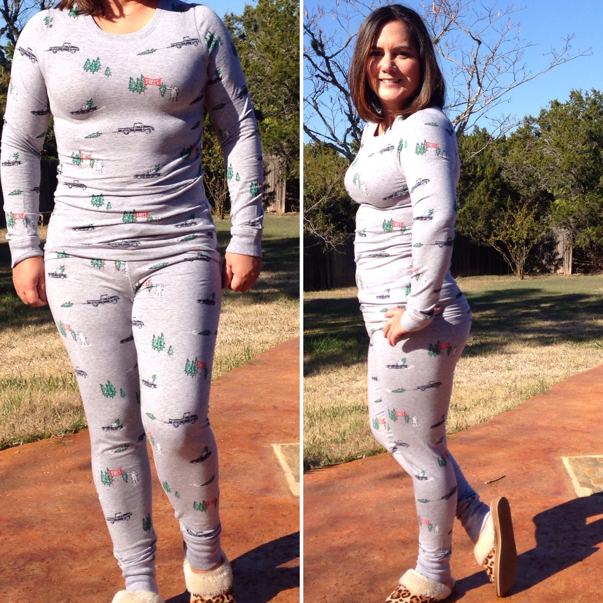 I love the print on these PJs. The Yeti family is looking for a Christmas  Tree. 8cb890e97