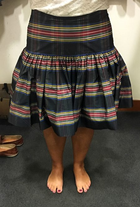 Taffeta Skirt in Stewart Plaid – Life is Short…Buy the Shoes