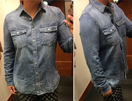 99a583fb05 Western Chambray Shirt in Vintage Indigo – Life is Short…Buy the Shoes